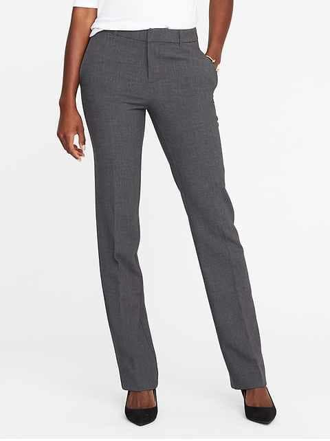 Mid-Rise Harper Full-Length Pants for Women - Heather Gray