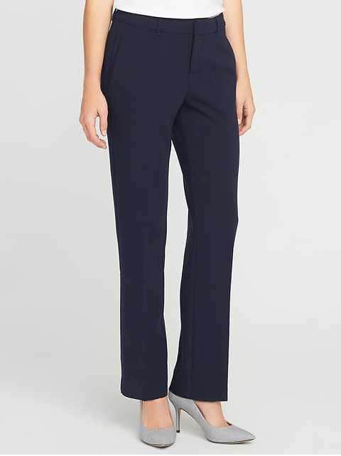 Mid-Rise Harper Full-Length Pants for Women - In the Navy