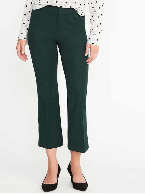 Mid-Rise Pixie Flare Ankle Pants for Women - Fir Ever