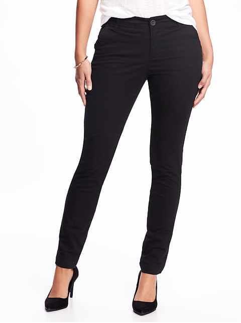 Mid-Rise Skinny Everyday Khakis for Women - Blackjack