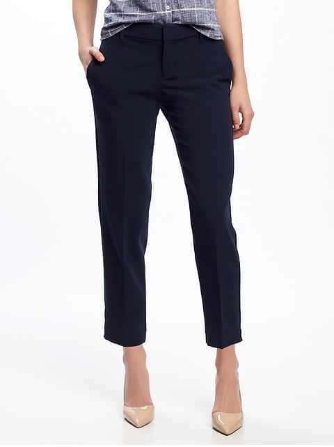 Mid-Rise Harper Ankle Pants for Women - In the Navy